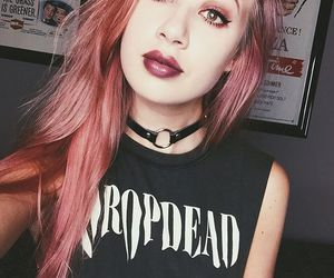 alternative, dyed hair, and pink hair image