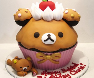 cute, cake, and rilakkuma image