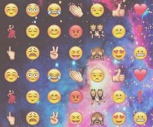emoji, wallpaper, and galaxy image