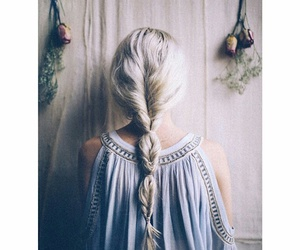 blonde, braid, and style image