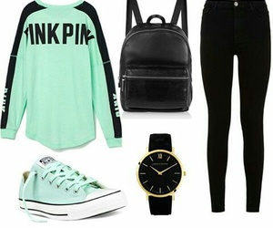 black, converse, and Polyvore image