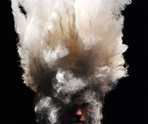 cloud, model, and white image