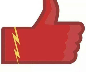 like and the flash image