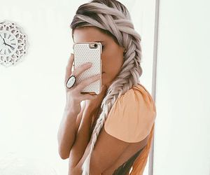 blonde, white, and braid image