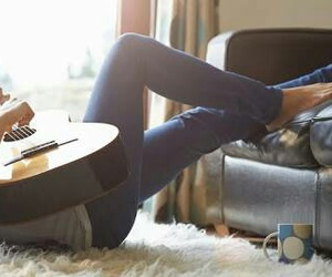 alone, girls, and guitar image