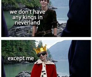 peter pan, king, and neverland image