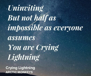 indie rock, crying lightning, and arctic monkeys image