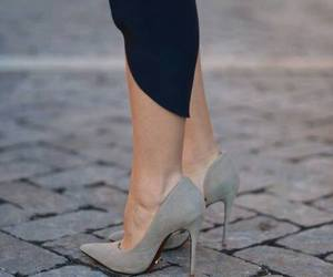 shoes, grey, and heels image