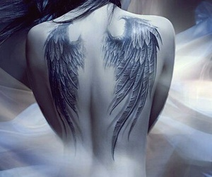 tattoo, angel, and wings image