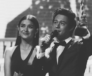 black and white, couple, and enrique gil image
