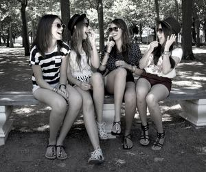 black and white, fashion, and fun image