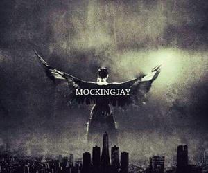 mockingjay, hunger games, and katniss image