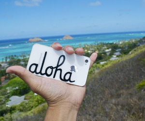 Aloha, hello, and ocean image