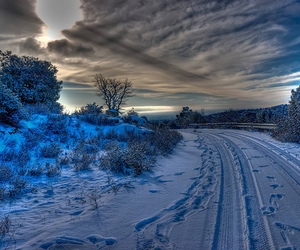 photography, snow, and clouds image