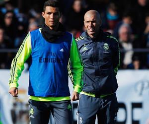coach, cristiano ronaldo, and real madrid image