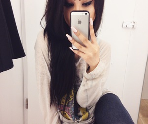 black hair, changing room, and extensions image
