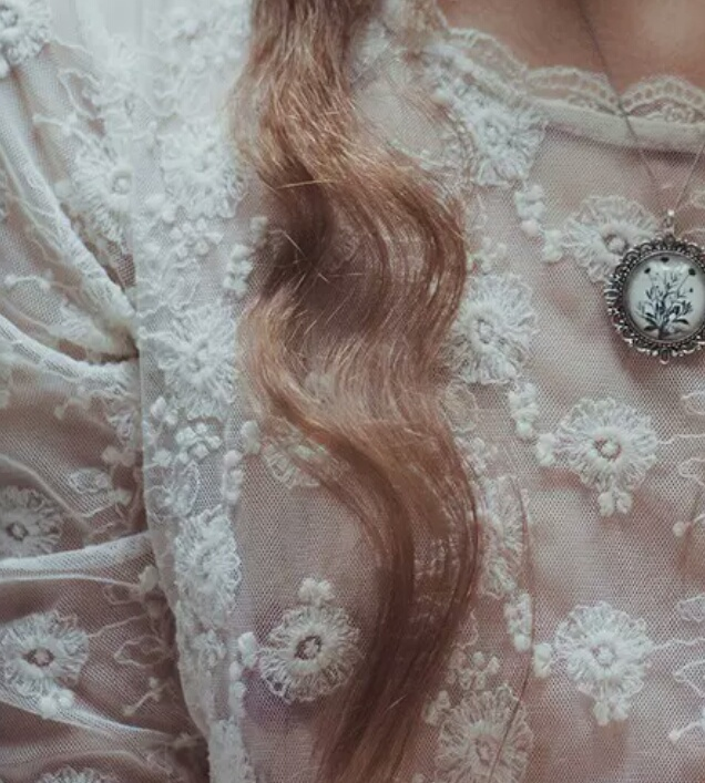 vintage, hair, and lace image