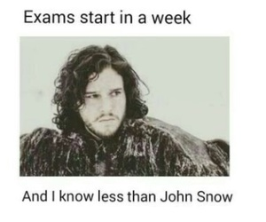 exam, funny, and game of thrones image