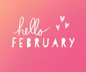 february, pink, and hello image