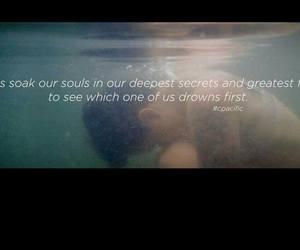 drown, sad, and soul image