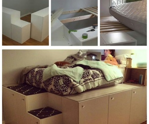 bed, diy, and ideas image