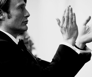 black and white, hannibal, and lecter image