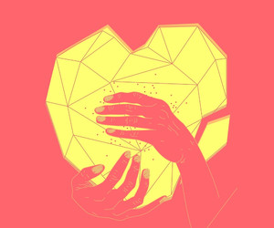 hands, heart, and illustration image