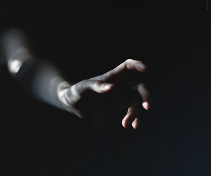 dark, aesthetic, and hand image