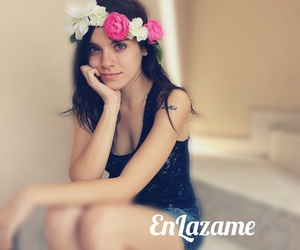 blossom, hair, and flowercrown image