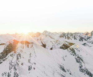 cold, mountains, and snow image