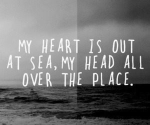 sea, heart, and quote image