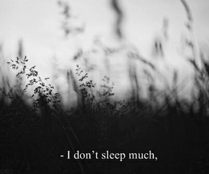 sleep, black and white, and quotes image
