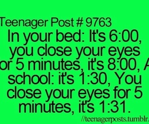 school, teenager post, and bed image