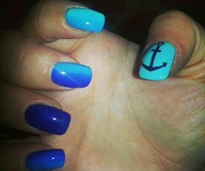 anchor, manicure, and sea image