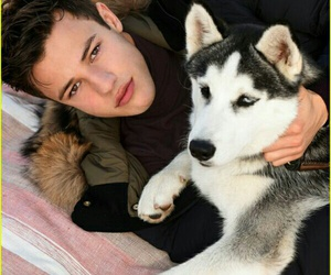 cameron dallas, dog, and boy image