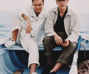 matt damon, jude law, and boy image