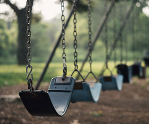 swing and childhood image