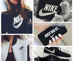 nike, black, and girls image