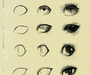 eyes, anime, and art image