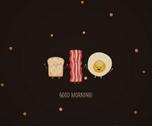 egg, bacon, and wallpaper image