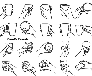 cups, diy, and drawing image