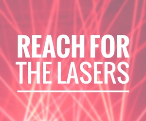 easel, font, and lasers image