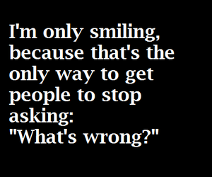 smile, depression, and quote image