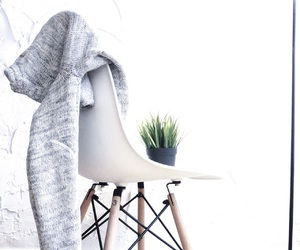 white, chair, and decor image