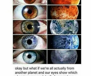 eyes, universe, and planet image