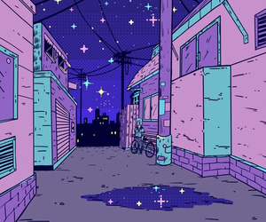 purple, pink, and night image