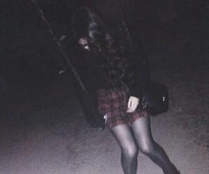 hair, sad, and grunge girl image