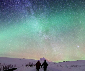 nature, stars, and couple image