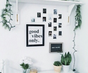white, room, and plants image