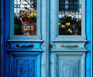 blue, doors, and photography image